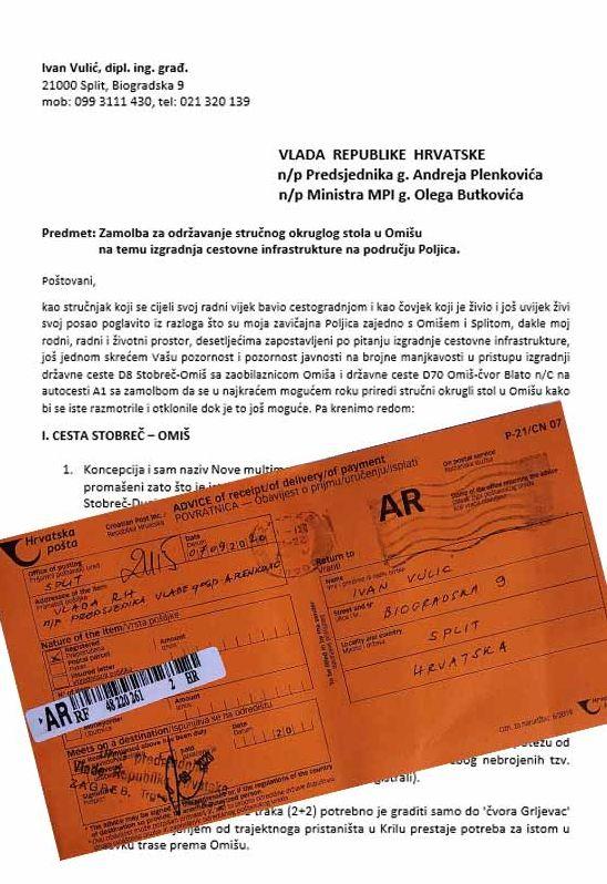 U povodu najave zatvaranja ceste kroz Zakučac (1): ZATVARANJE KANJONSKOG DIJELA PROMETNICE D70 NIJE RJEŠENJE!