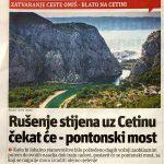U povodu najave zatvaranja ceste kroz Zakučac (3): PONTONSKI MOST NIJE RJEŠENJE NEGO TUNEL