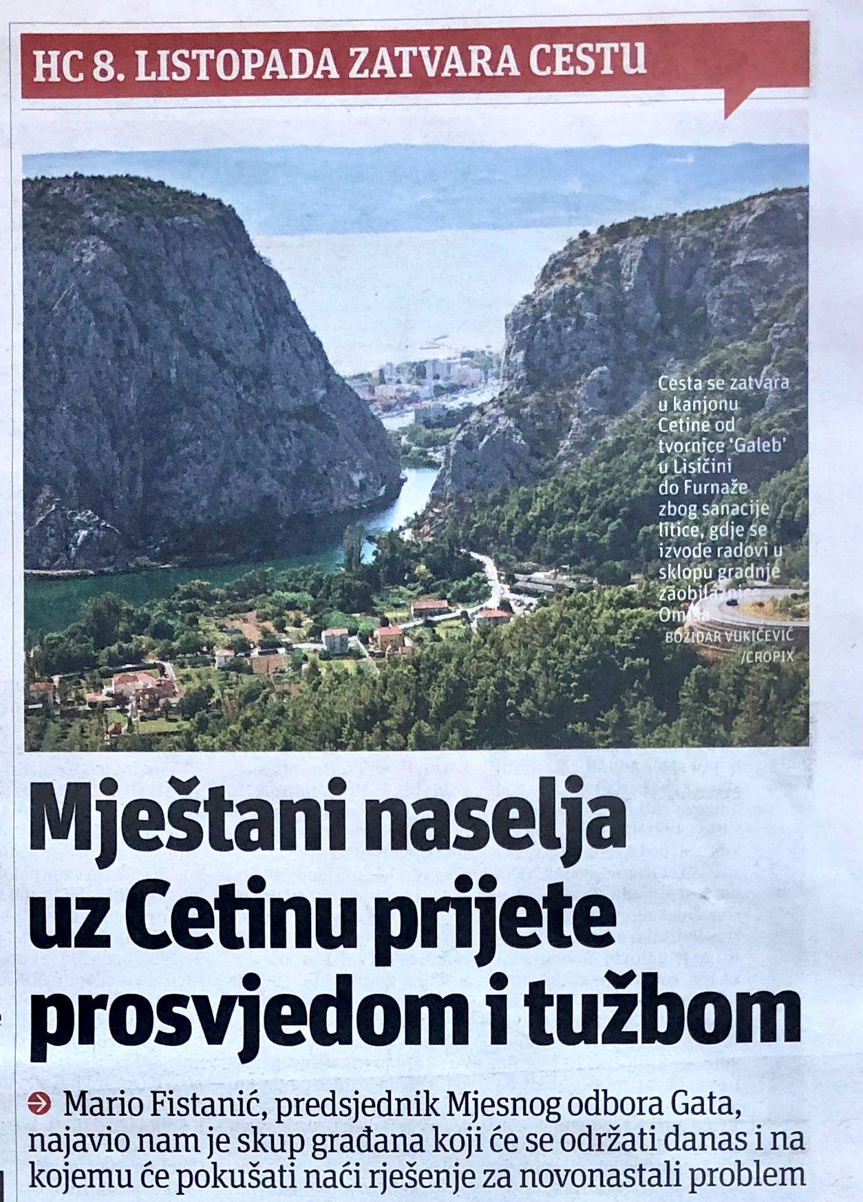 U povodu najave zatvaranja ceste kroz Zakučac (8): PRAVEDNA BORBA POLJIČANA ZA PRAVO NA NORMALAN ŽIVOT I RAD