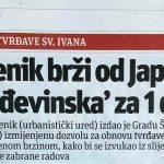 U povodu zatvaranja ceste kroz Zakučac (30): ŠIBENIK MOŽE ŠTO DRŽAVA NE MOŽE!