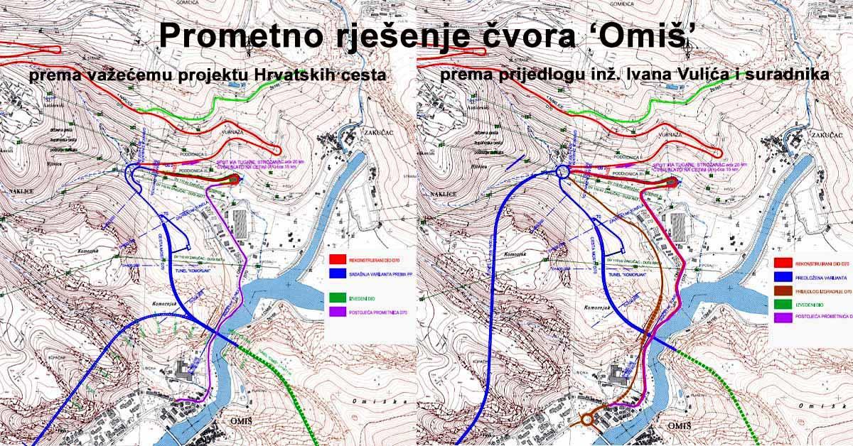 U povodu zatvaranja ceste kroz Zakučac (19): ČVOR 'OMIŠ' – SLUŽBENO I ALTERNATIVNO RJEŠENJE