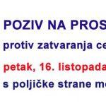 U povodu zatvaranja ceste kroz Zakučac (21): POZIV NA DRUGI PROSVJED U OMIŠU
