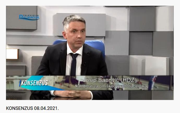 LOKALNI IZBORI 2021. (3) – JOSIP BANOVIĆ, KANDIDAT ZA GRADONAČELNIKA GRADA OMIŠA